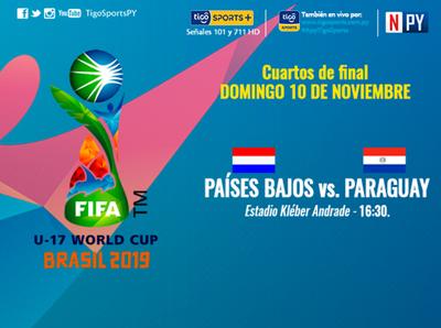 Paraguay juega por los cuartos de la Copa Mundial Sub-17 de la FIFA