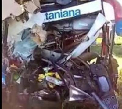 4 muertos tras choque de La Santaniana  en Argentina