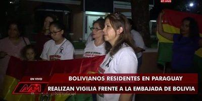 Bolivianos en Paraguay se manifestaron