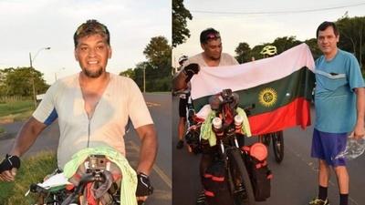 Sueño cumplido; ignaciano llegó en bicicleta a su ciudad natal desde Bs. As.
