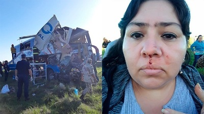 "Pasajera de bus siniestrado asegura que ""volvió a nacer"""