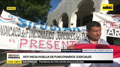 Hoy inicia huelga de funcionarios judiciales