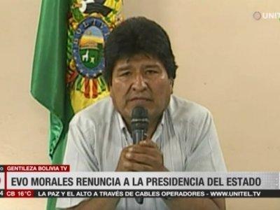 """""""Mi pecado es ser indígena"""", dijo Evo al renunciar por presión de las Fuerzas Armadas"""