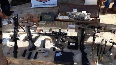 Armamento de grueso calibre fue incautado en Caacupe