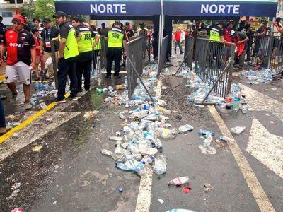 Final de Copa Sudamericana dejó unos 65.000 kilos de basura
