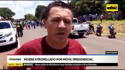 Comunicador muere atropellado por móvil de la comitiva presidencial
