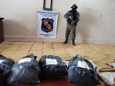 Incautan 409 kilos de marihuana en Pedro Juan Caballero