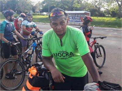 La travesía en bicicleta de un paraguayo desde Buenos Aires a Misiones
