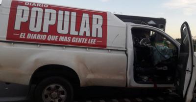 Accidente de tránsito involucró a un móvil del Diario Popular