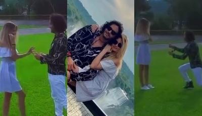 El video del momento en que Mario Cimarro le pidió matrimonio a su novia