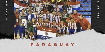 Con muchos goles, Paraguay C13 ganó la copa mundial en fútbol sala