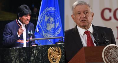 """Por salvarle """"la vida"""", Evo Morales agradeció a López Obrador en México"""