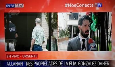 Allanan propiedades de González Daher investigando usura