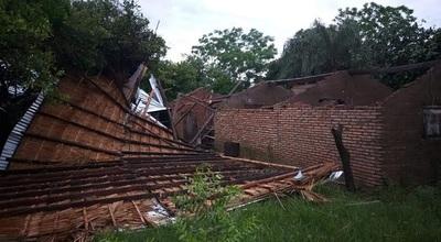 Tormentas provocaron serios daños y damnificados en sur de Ñeembucú