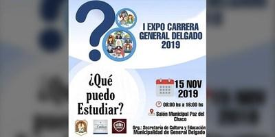 """¿QUE PUEDO ESTUDIAR?: LLEGÓ LA PRIMERA """"EXPO CARRERA GENERAL DELGADO"""" 2019"""