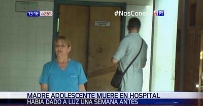 Madre adolescente fallece en el Hospital de Encarnación
