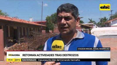 Colegio de Ñemby retoma actividades tras destrozos