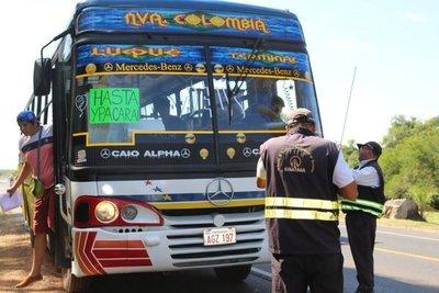 Planifican disponibilidad de buses para operativo Caacupé 2019