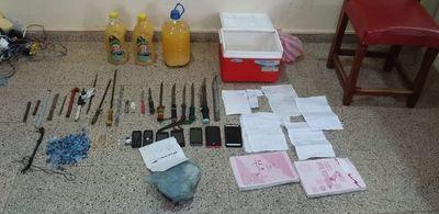 Incautan armas, drogas y celulares en penal de Encarnación