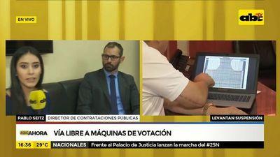 Vía libre a máquinas de votación