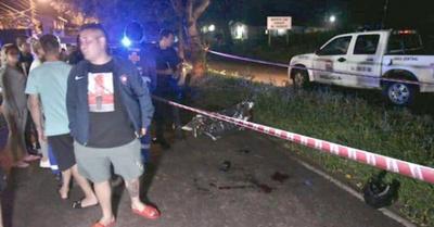 En balacera, tras asalto murió un motochorro