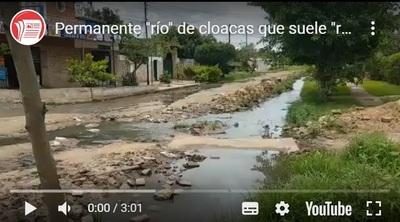 Barrio Sta. Maria: Cloacas en el patio y cuando llueve en toda la casa