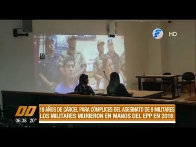 19 años de cárcel para cómplices del EPP