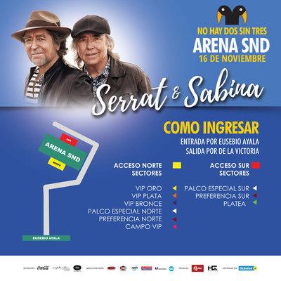 Serrat y Sabina en concierto este sábado en el SND