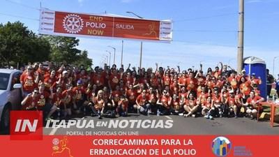 CORRECAMINATA POR LA ERRADICACIÓN DE LA POLIOMIELITIS SERÁ MAÑANA