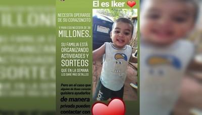 Padres de Iker organizan rifa para costear su cirugía