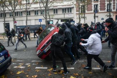 Disturbios enprimer aniversario de protestas de los chalecos amarillos