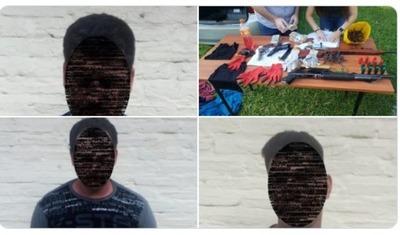 Detienen a tres presuntos asaltantes con armas y dinero