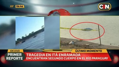 Hallan segundo cuerpo de desaparecidos en el río Paraguay