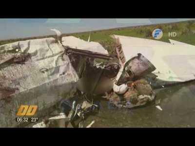 Avioneta se estrella y deja un muerto