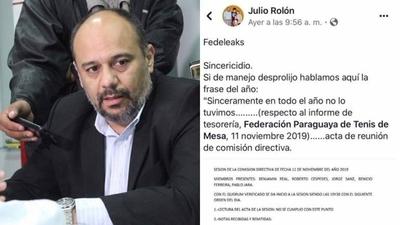 HOY / Corrupción en el deporte: Rosario de denuncias afecta a federación paraguaya de tenis mesa