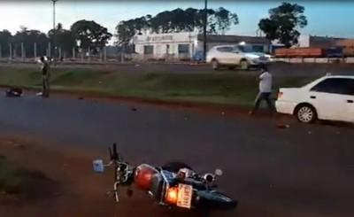 Motociclista queda grave tras ingresar de contramano y chocar en Km 9