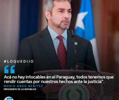 "Mario Abdo Benítez sobre orden contra Cartes: ""Acá no hay intocables"""
