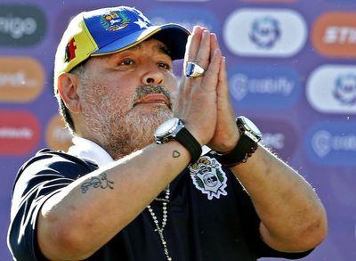 El DT Maradona dejó Gimnasia