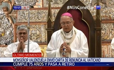 Arzobispo de Asunción presenta renuncia