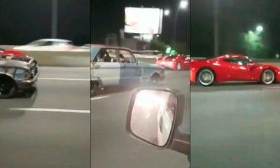 ¡La increíble carrera entre un Falcon y una Ferrari!