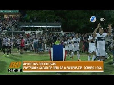 Apuestas deportivas: Pretenden sacar de grillas a equipos del torneo local