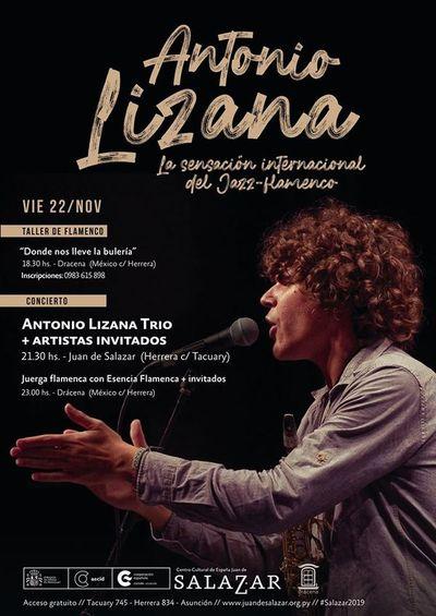 El saxofonista y cantautor, Antonio Lizana este viernes en el Salazar