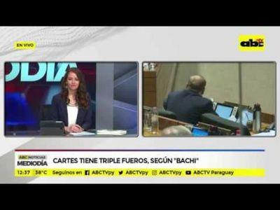 """Cartes tiene triple fueros, según """"Bachi"""""""