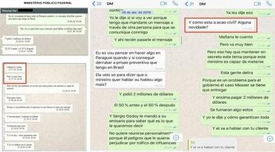 """HOY / Revelan cómo la Fiscalía brasileña """"trucó"""" chats entre la abogada de Messer y su cliente"""