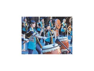 Show  de  tambores del Japón se realiza en el Banco Central