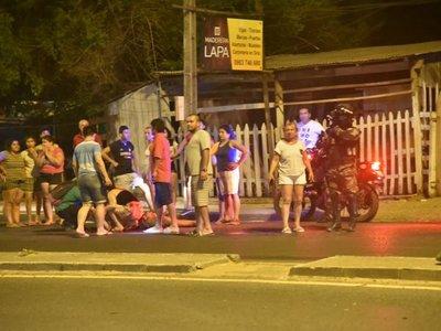Motociclista fue atropellado al salir de una bodega