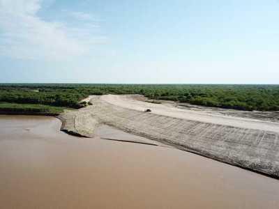 Finalizó la reconstrucción del muro de contención de Pozo Hondo