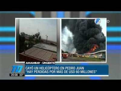 Caída de helicóptero deja pérdida de USD 60 millones