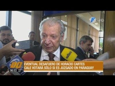 Desafuero de Cartes: Calé votará solo si es juzgado en Paraguay