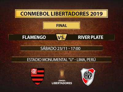 Flamengo y River Plate van por el título de la Copa Libertadores